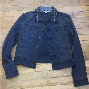 Cabi Jeans size M Black Jean Jacket